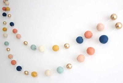 Handmade Felt Ball Garland