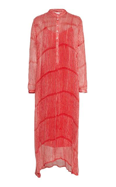 Andrea Striped Silk Maxi Dress