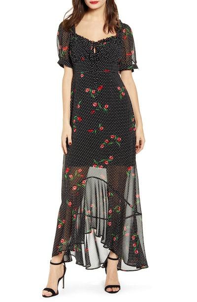 Pamela Floral Print Maxi Dress