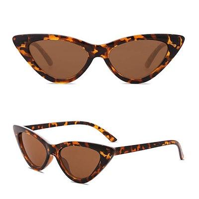 SOJOS Retro Vintage Narrow Cat Eye Sunglasses