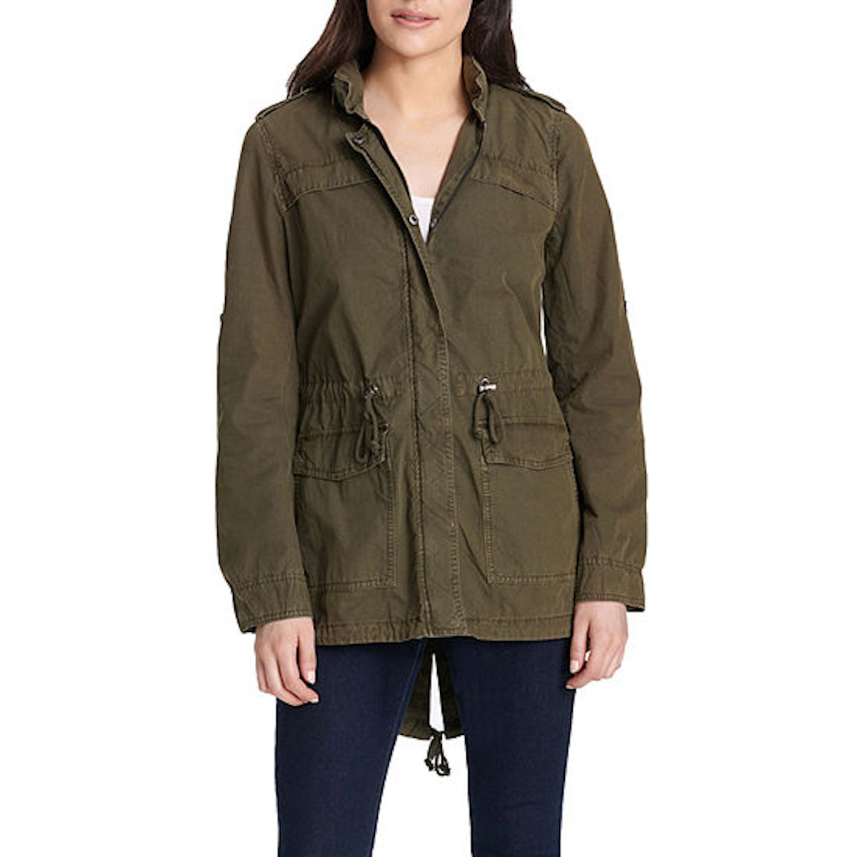 Olive Green Anorak for a DIY Halloween Costume
