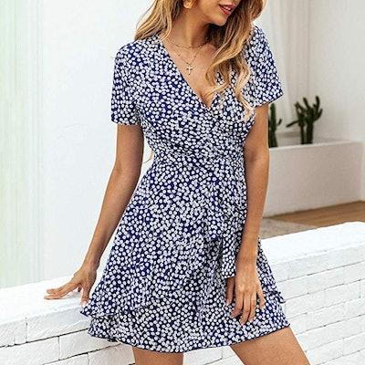 BTFBM Printed A-Line Dress