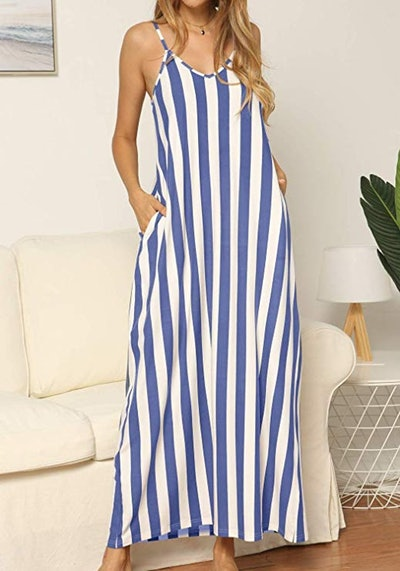 levaca Striped Maxi Dress