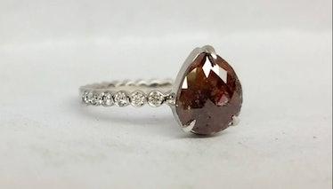 Rose Cut Brown Diamond Ring