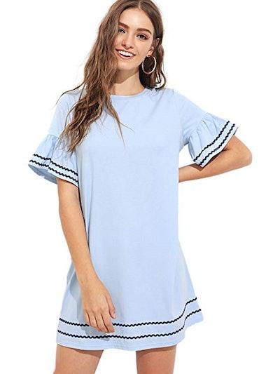 Verdusa Ruffle Hem Tunic Dress