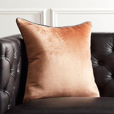 Copper Crushed Velvet Pillow