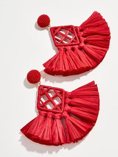 Sahari Raffia Drop Earrings