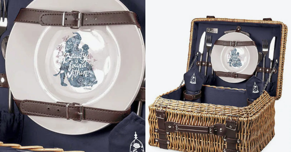 This 'Beauty & The Beast' Picnic Basket For Grownup Fans Is A Summer Must-Have