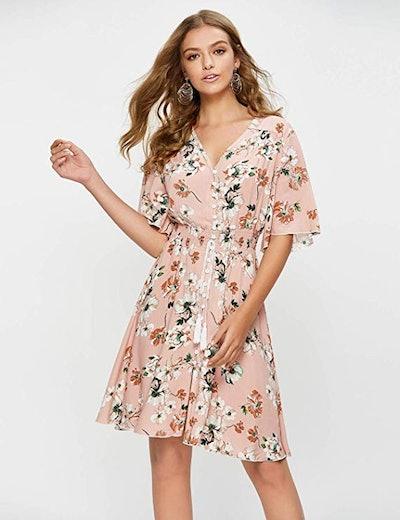 Escalier Floral Midi Dress