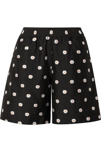 Asuka Floral-Jacquard Shorts