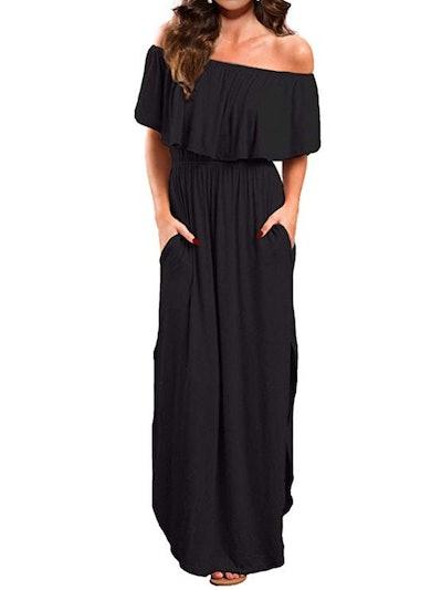 VERABENDI Off-Shoulder Maxi Dress