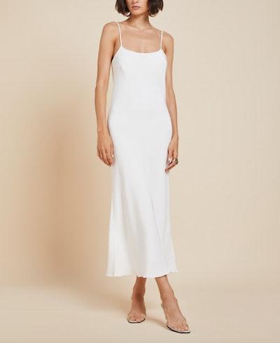 Artemis Ivory Morocain MIdi Dress