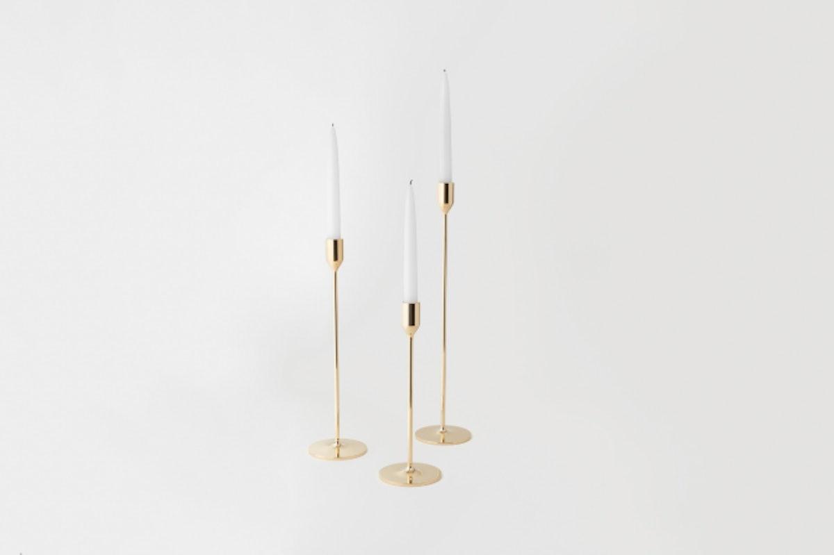 Skultuna Brass Candlesticks (large)