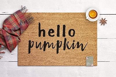 """""""Hello Pumpkin"""" Doormat"""