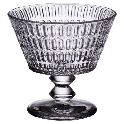 Ava Pressed Glass Dessert Bowl