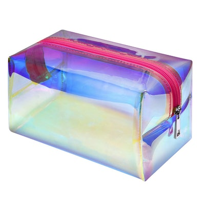 F-color Holographic Clear Travel Cosmetic Bag