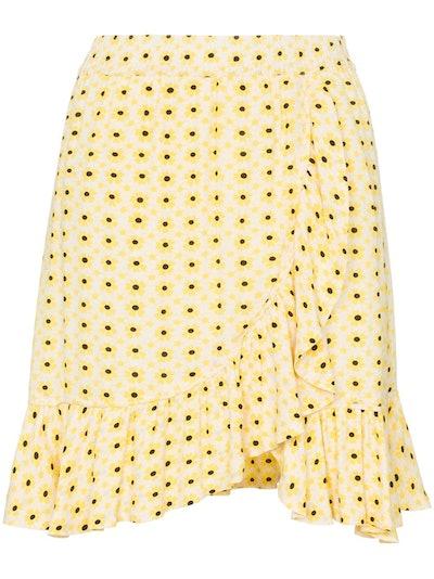Daisy Print Wrap Skirt
