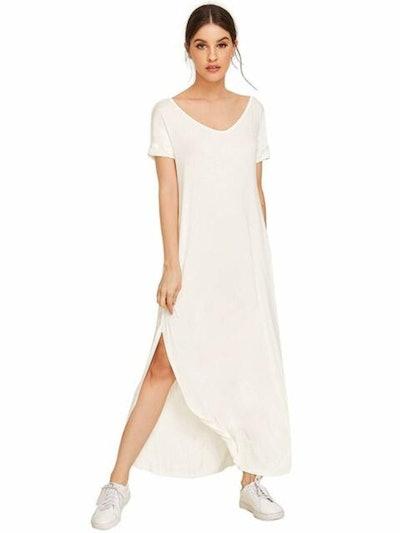 MAKEMECHIC Knit Maxi Dress