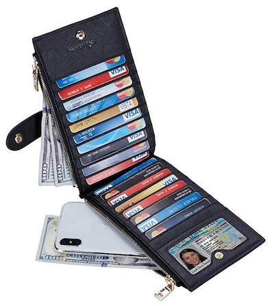 Travelambo RFID Blocking Bifold Multi Card Case Wallet