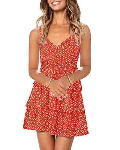 Imysty Ruffled Mini Dress