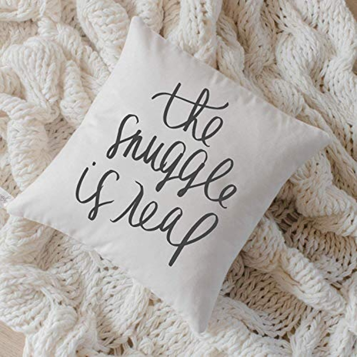 """""""The Snuggle Is Real"""" Pillow"""