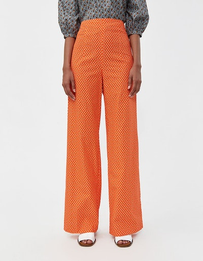 Wide Leg Printed Trouser