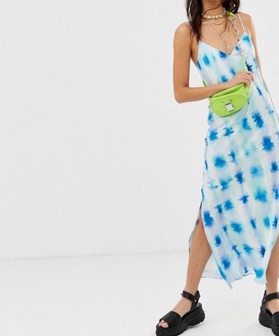 Catin Cami Maxi Slip Dress in Tie Dye Print