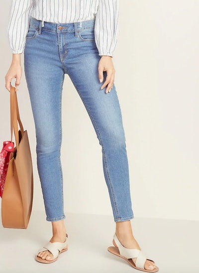 Mid-Rise Super Skinny Ankle Jeans