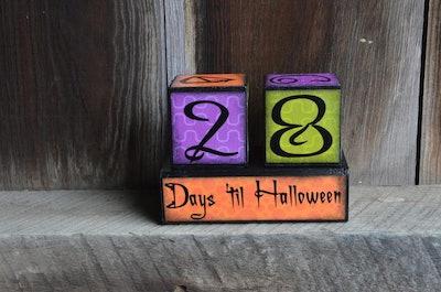 Halloween Countdown Advent Blocks