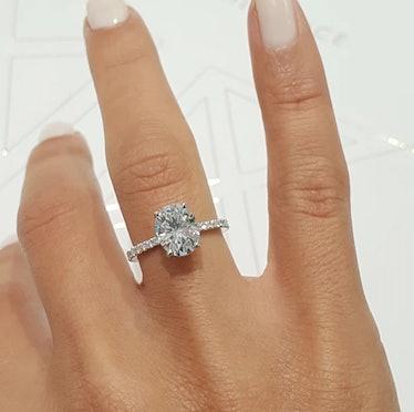 "2.5 Carat ""Hidden Halo"" Engagement Ring"