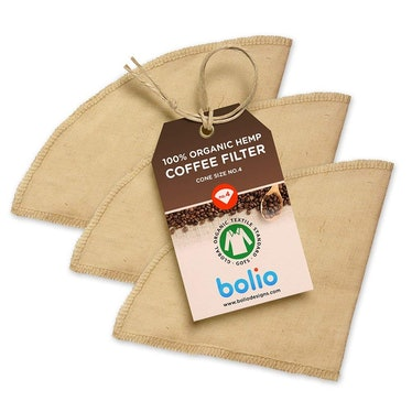 Bolio Organic Hemp Cone Coffee Filters (3-Pack)