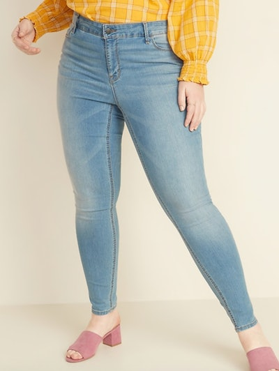 Mid-Rise Super Skinny Ankle Jeans Plus