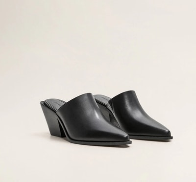 Heel Leather Mules