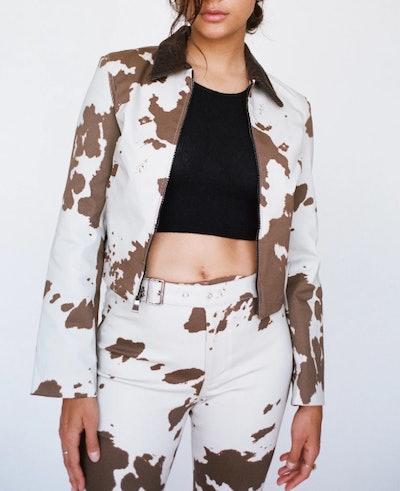 Kai Jacket in Cow Print