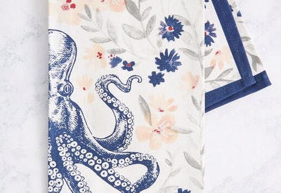 Lovely as Can Sea Cotton Tea Towel