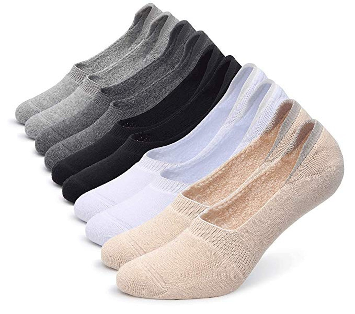 Pareberry Women's Low-Cut Socks (10-Pack)