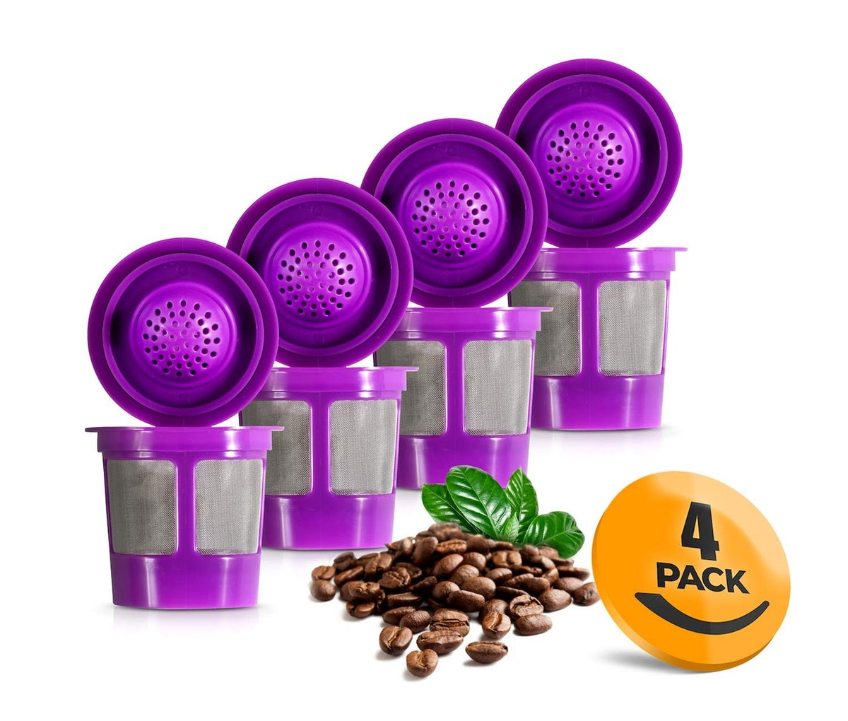 K&J Reusable K-Cups (4-Pack)