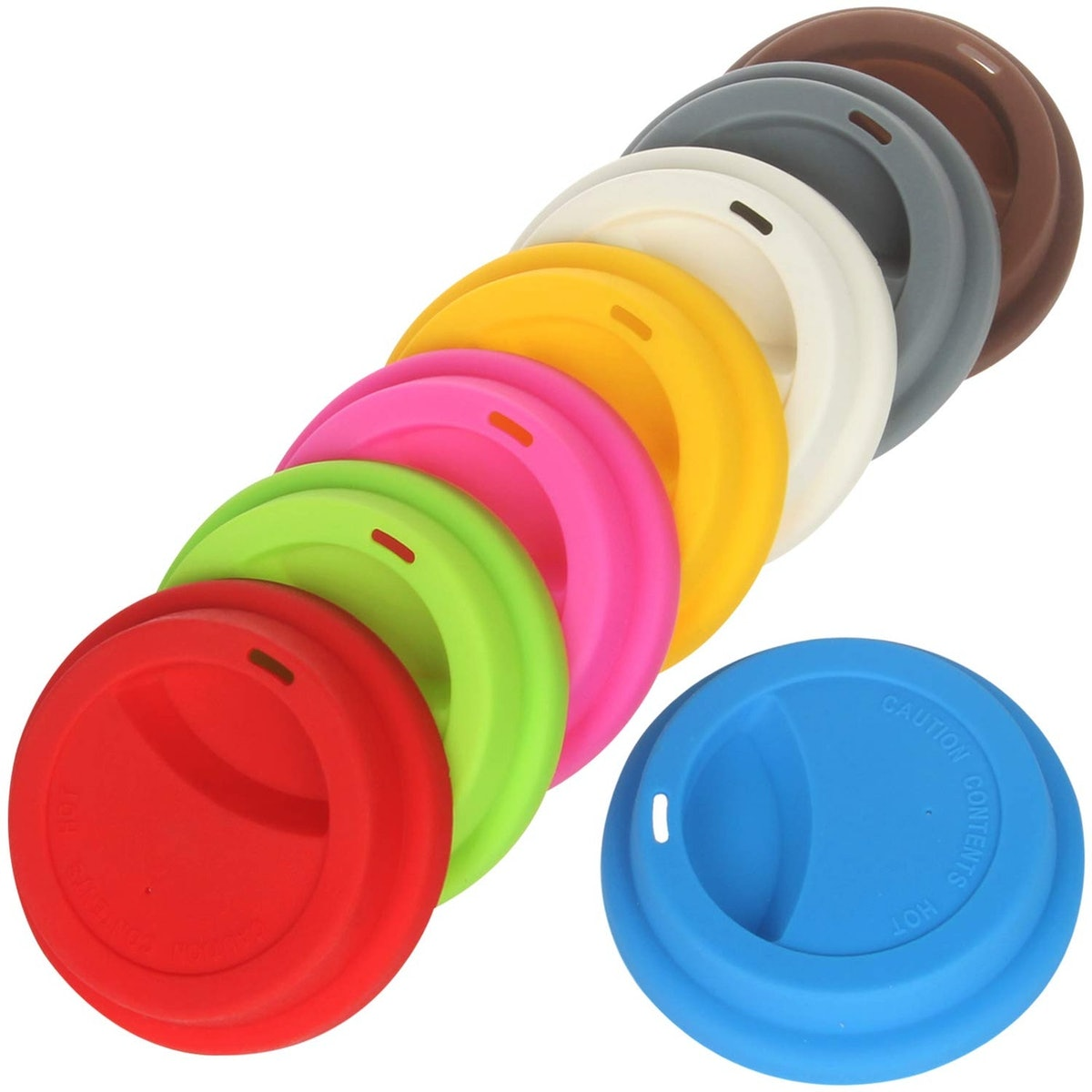 Yilove Silicone Coffee Cup Lids (8-Pack)