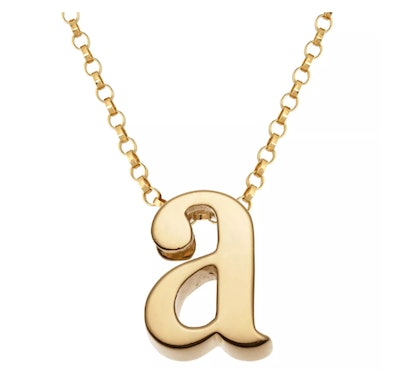 Sterling Silver Initial Charm Pendant