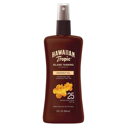 Hawaiian Tropic Tanning Oil Pump Spray, SPF 25