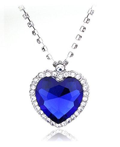 Nelswet Large Titanic Heart Ocean Crystal Necklace