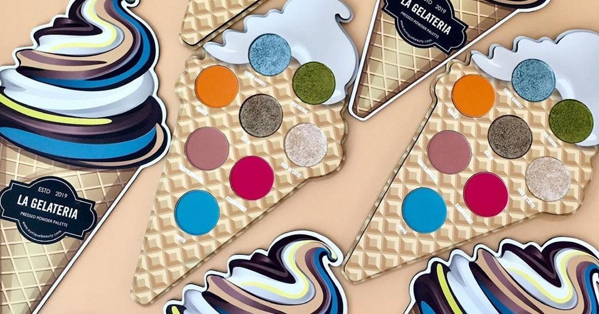 Eunique Beauty's La Gelateria Eye Shadow Palette Is As Sweet As An Ice Cream Cone