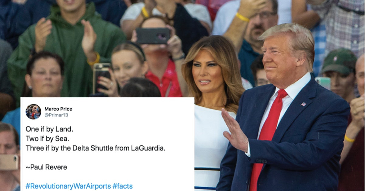 The Tweets About Trump's Fourth Of July Speech & Parade Call Out This Blunder