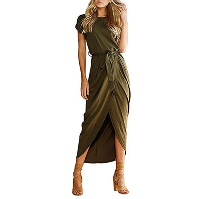 Yidarton Split Slit Casual Dress