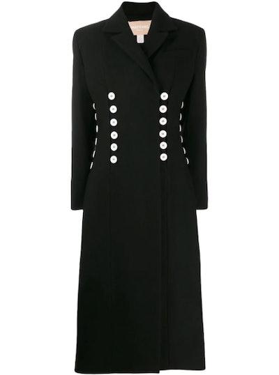 Button Panelled Coat