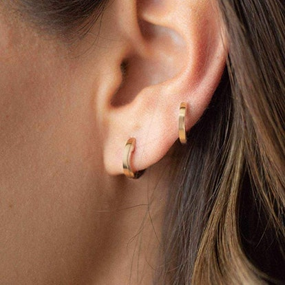 Gold-Plated Small Hoop Earrings