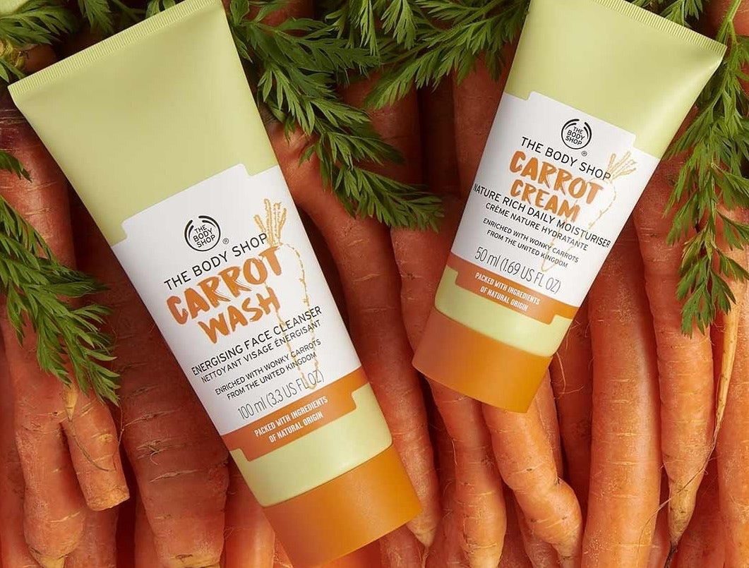 The Body Shop S Carrot Collection Is Helping To Reduce Global Food Waste