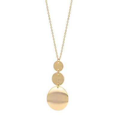 Layered Gold-Plated Pendant Necklace