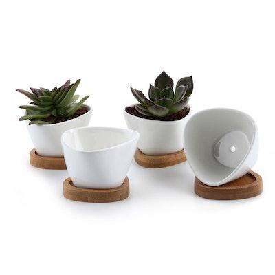 Ceramic Succulent Pot (4 Pack)
