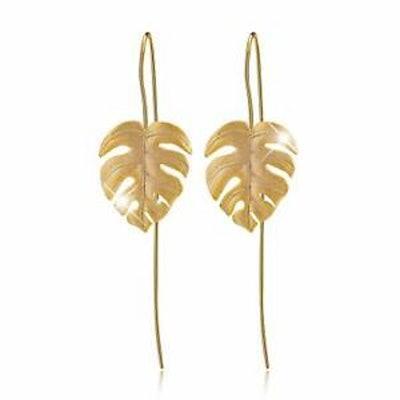 Lotus Fun Monstera Leaf Earrings